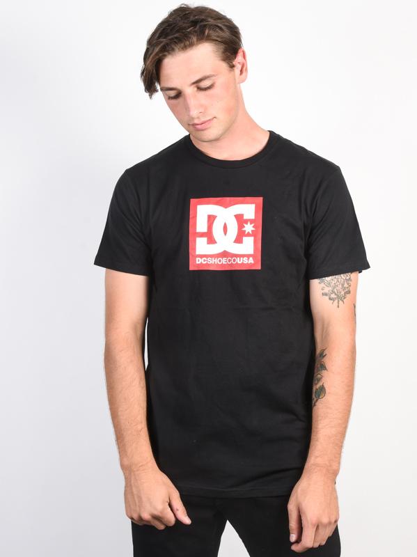 4f78c73ef58 Dc SQUARE STAR black pánské tričko s krátkým rukávem   Swis-Shop.cz