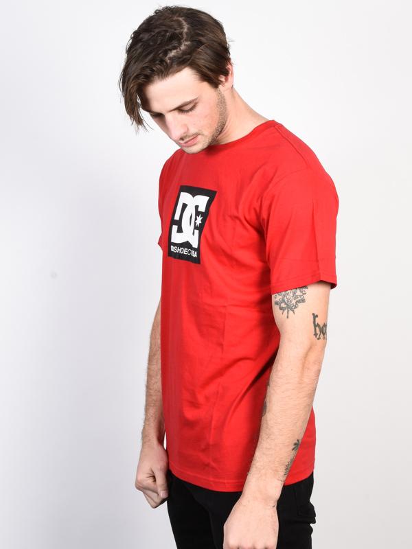 fb9fd8d734c Dc SQUARE STAR TANGO RED pánské tričko s krátkým rukávem   Swis-Shop.cz